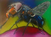 Acrylmalerei, Malerei, Insekten, Portrait