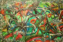 Farbkleckse, Stimmung, Ölmalerei, Komplexität