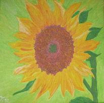 Sonnenblumen, Natur, Grün, Malerei