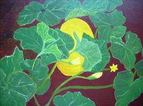 Acrylmalerei, Kürbisse, Natur, Malerei