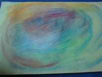 Welt, Pastellmalerei, Malerei