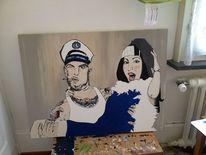 Liebe, Trash, Hochzeit, Malerei