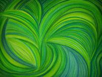 Grün, Pastellmalerei, Blau, Malerei