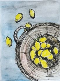 Landhaus, Gelb, Zitrone, Ocker