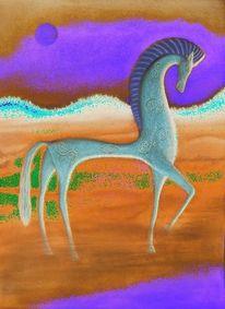 Digital, Mythologie, Digi art, Pferde