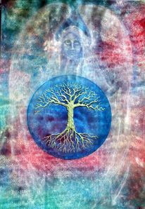 Spirituell, Baum, Meditation, Tree of life