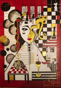 Schwarz, Schach, Fantasie, Weiß
