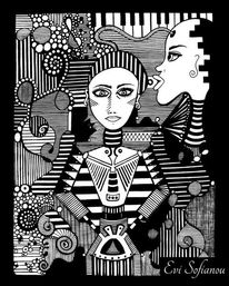 Schwarz, Dual, Weiß, Selbstportrait