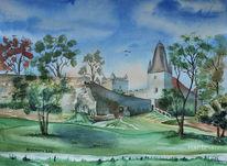 Burg bentheim, Schlosspark, Himmel, Baum