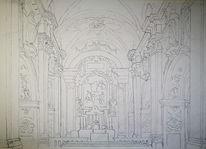 Studie, Skizze, Kloster marienberg, Südtirol