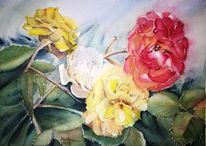 Rose, Blumen, Malerei