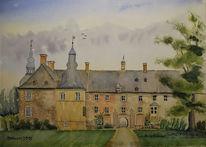 Lembeck, Schloss, Aquarell