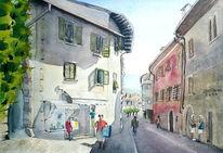Kaltern, Stadtszene, Südtirol, Menschen