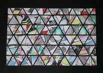 Bunt, Kreativ, Abstrakt, Zeichnung