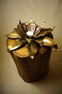 Metall, Blumen, Akazie, Kunsthandwerk