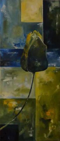 Abstrakt, Blumen, Tulpen, Acrylmalerei