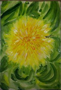 Blumen, Heuschrecke, Natur, Malerei