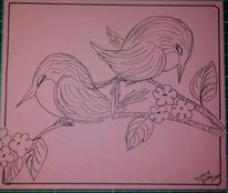 Traurig, Streit, Vogel, Zeichnungen