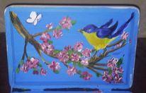 Frühling, Blüte, Vogel, Malerei