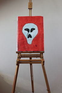 Rot, Aquarellmalerei, Alien, Surreal