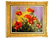 Monn, Rot, Rose, Malerei