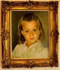 Ölmalerei, Gold, Malerei, Portretrait