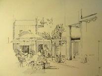Stadtzeichnung, Urban sketch, Zeichnungen, Ecke