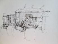 Tuschmalerei, Skizzenheft, Urban sketch, Zeichnungen