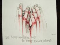 Grau, Linie, Rot, Hände