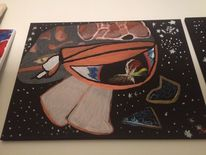 Kalt, Augen, Universum, Malerei