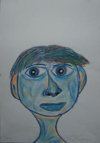 Blau, Menschen, Portrait, Männergesicht