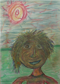 Gesicht, Sonne, Landschaft, Selbstportrait
