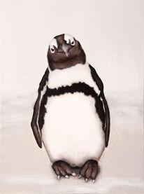 Naturalistisch, Pinguin, Schwarz weiß, Malerei