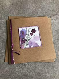 Natur, Glückwunschkarte, Handarbeit, Blumen