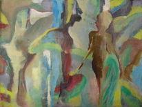 Acrylmalerei, Abstrakt, 2014, Malerei