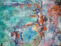 Blau, Groß, Bunt, Malerei