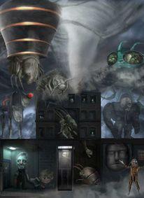 Raumschiff, Tiere, Zerstörung, Freak