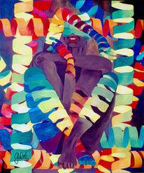 Bänder, Menschen, Surreal, Malerei