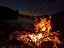 Feuer, See, Natur, Fotografie