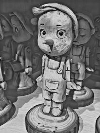 Pinocchio, Holz, Puppe, Fotografie