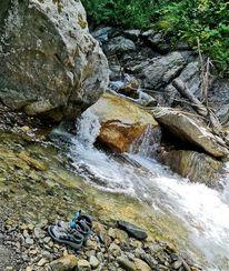 Wanderung, Wasserfall, Natur, Fotografie