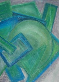 Pastellmalerei, Abstrakt, Zeichnungen, Formen