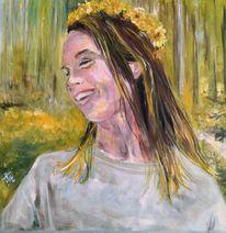 Waldspaziergang, Malerei, Jasmin,