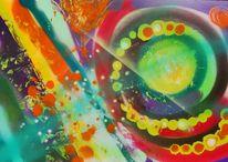 Sprühen, Farben, Lichpunkte, Malerei