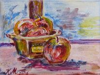 Schale, Apfel, Natur, Malerei