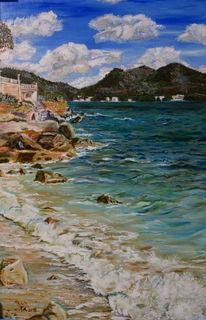 Acrylmalerei, Mallorca, Malerei, Strand