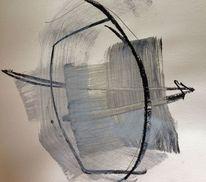Abstrakt, Schwarz weiß, Malerei, Natur