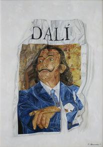 Dalí, Portrait, Malerei,