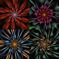 Fraktalkunst, Blüte, Fantasie, Digitale kunst