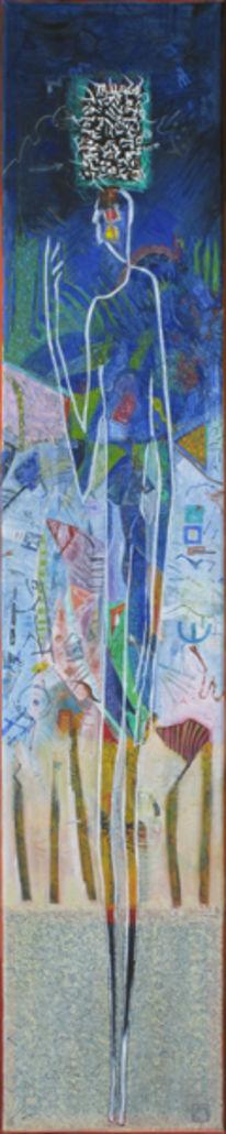 Malerei, Abstrakt, Figur